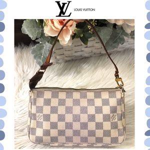 Authentic Louis Vuitton Damier Azur Pochette